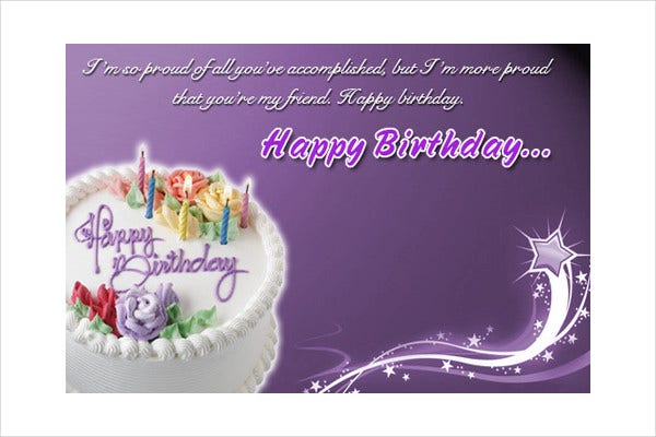 Free Email Birthday Card gangcraftnet – Sample Happy Birthday Email