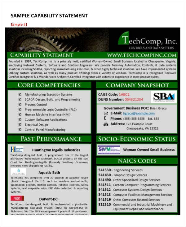 Capability statement templates 10 free pdf documents download basic capability statement template maxwellsz
