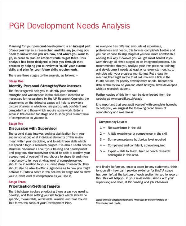 development needs analysis template1