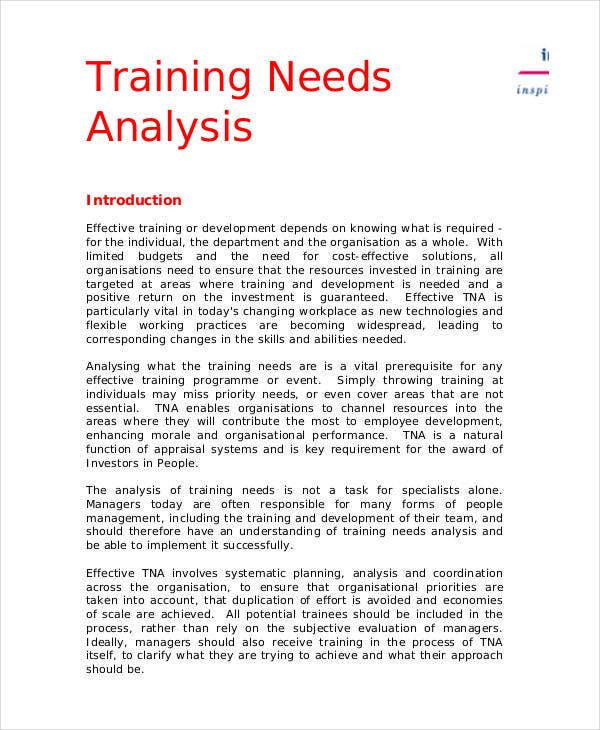 training needs analysis template1