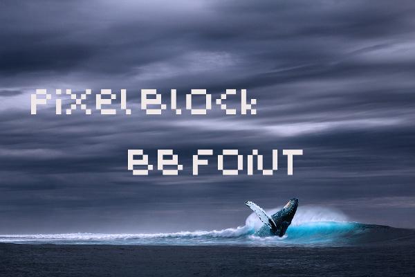 pixel-block-font