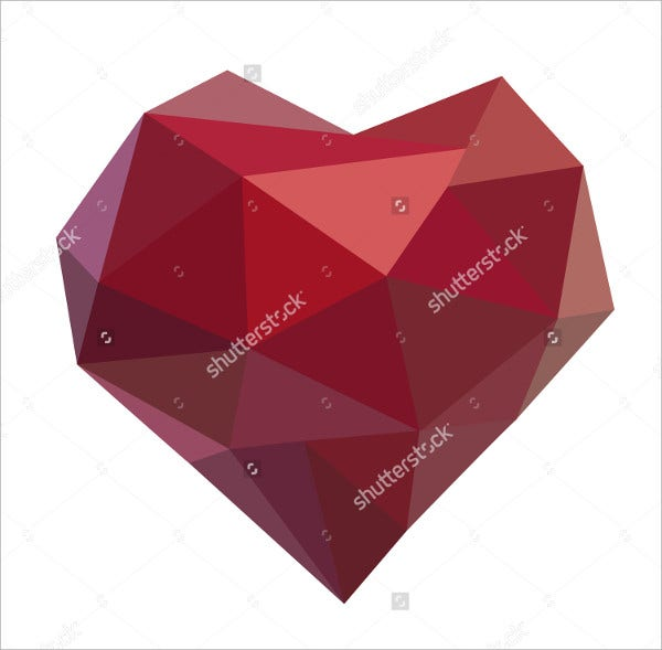 Geometric Heart Shapes