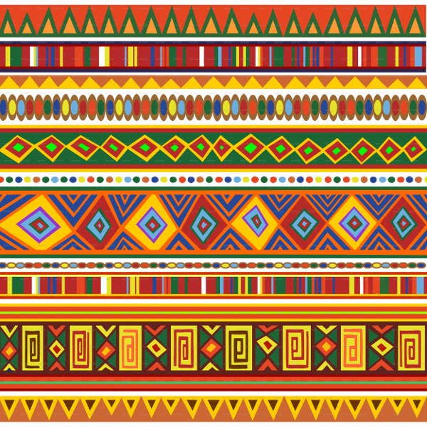 ethnic colorful pattern