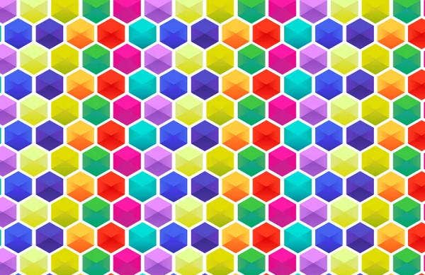 hexagonal colorful pattern