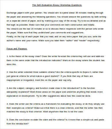 Evaluation Essay Template   Free Samples Examples Format