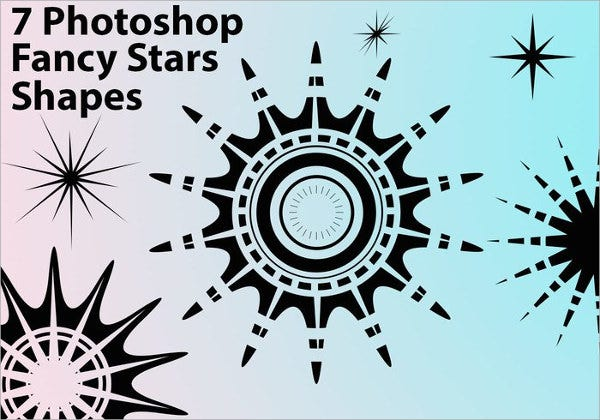 Stars Photoshop Custom Shapes