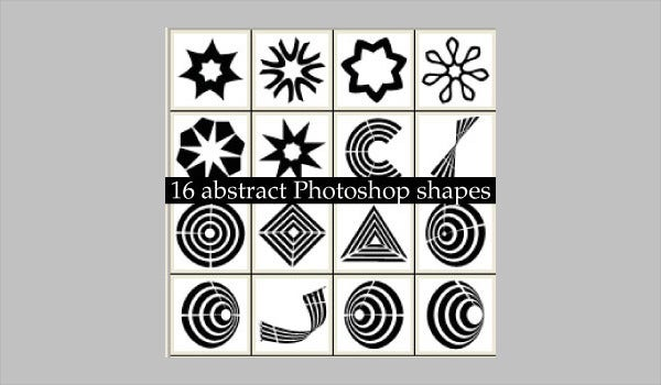 Abstract Photoshop Shapes
