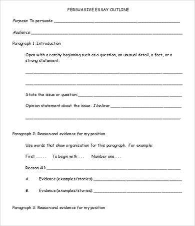 argumentative essay examples view larger example argumentative 5 paragraph essay outline template