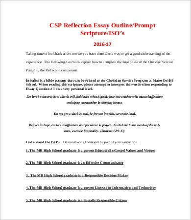 reflective essay template 8 free word pdf documents download - Free Reflective Essay Examples