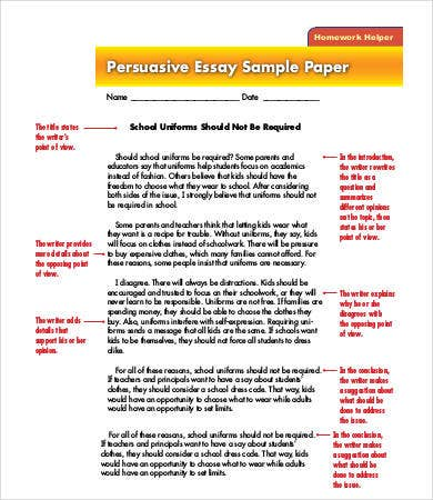 Argumentative Essay Model  Oklmindsproutco Argumentative Essay Model