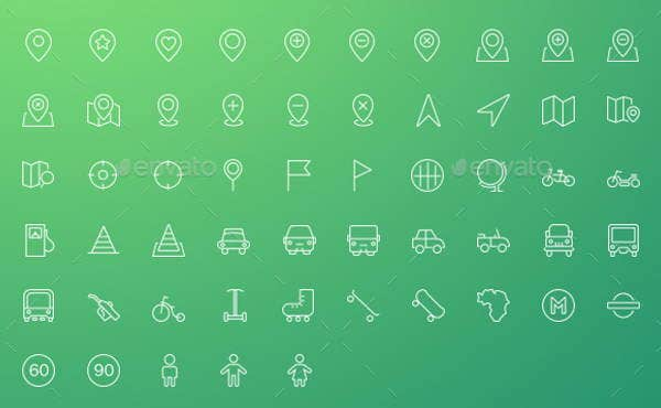 location-outline-icons