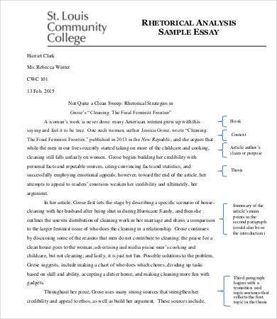 Sample Rhetorical Analysis Essay