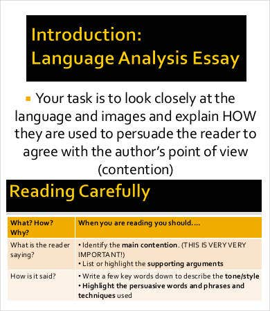 sample language analysis essay