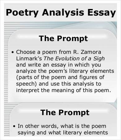 analysis essay samples examples format  poetry analysis essay sample