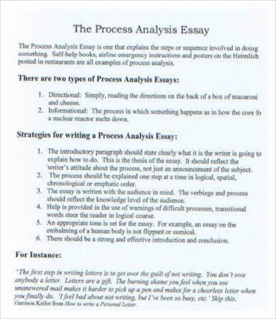 Process analysis essays