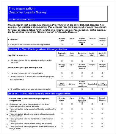 Customer Loyalty Survey Template