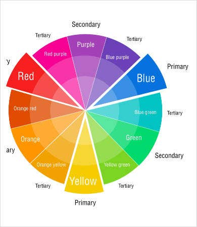 photo regarding Color Wheel Printable identify Colour Wheel Charts - 6+ Free of charge PDF Data files Down load Free of charge