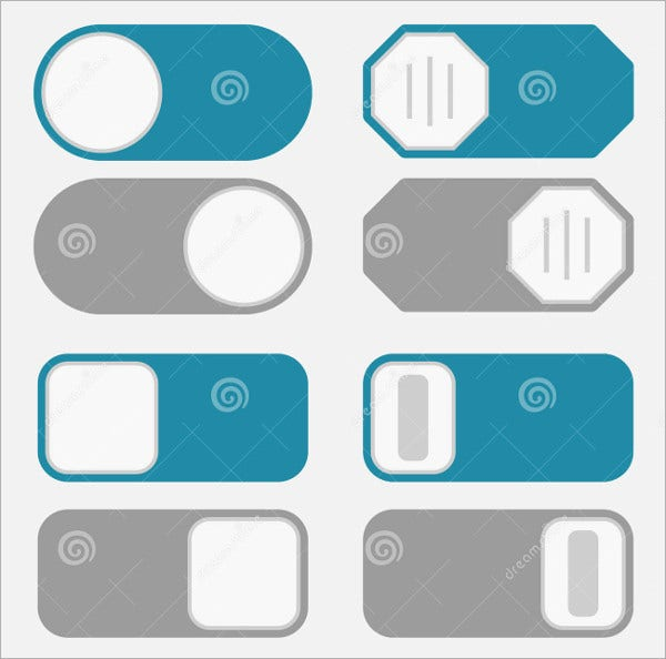 Minimal Flat Toggle Buttons