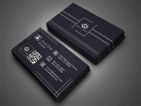 designer minimalist business card