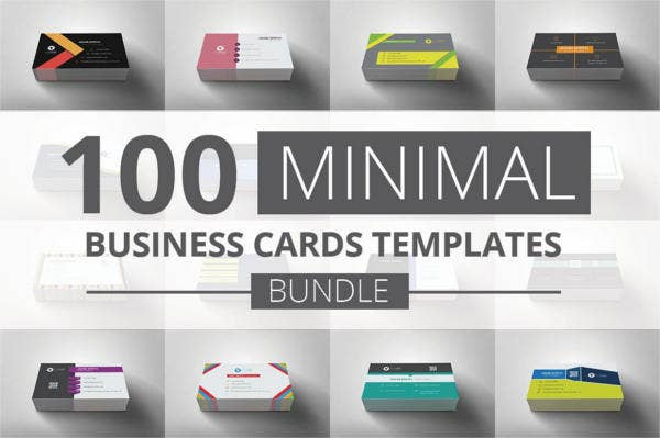 100 free minimal business cards bundle