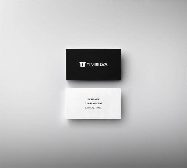 minimal business cards by tim silva in learn