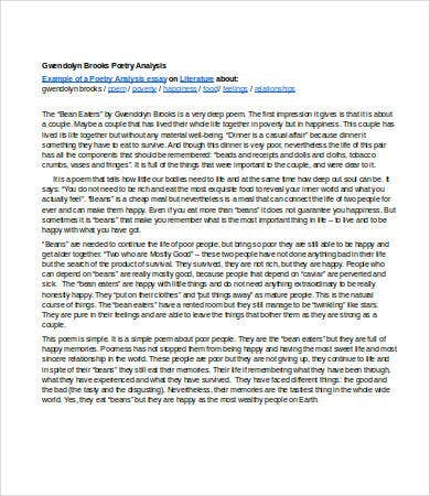 Analysis Essay Template - 7+ Free Sample, Example, Format | Free