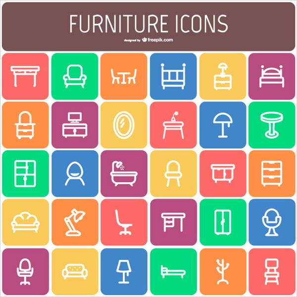 vector-furniture-icons