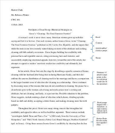 rhetorical analysis essay template