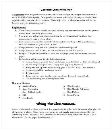 analysis essay sample example format character analysis essay template