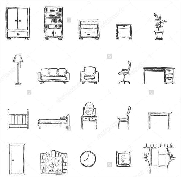 sketch-furniture-icons