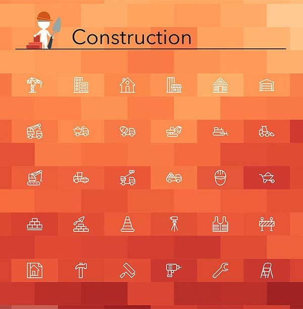 construction-line-icons