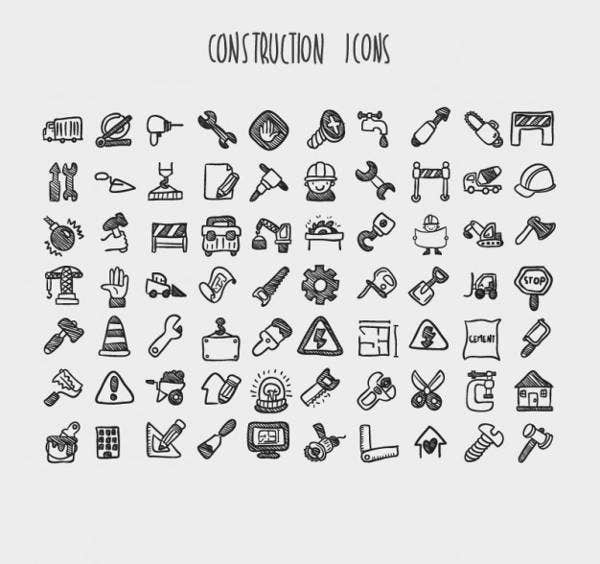 cartoon construction icons