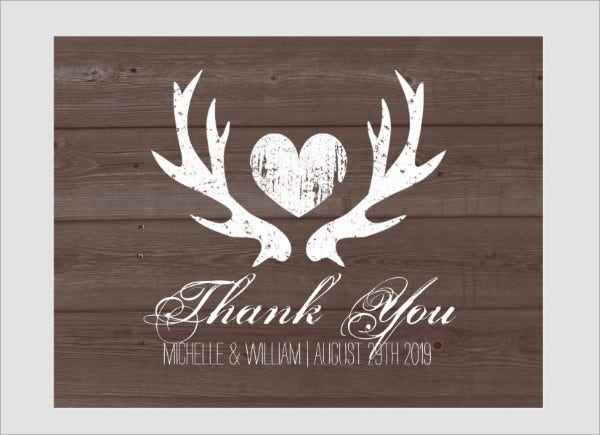 Printable Rustic Thank You Card