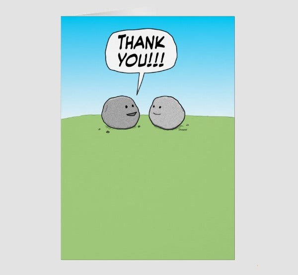Printable Funny Thank You Card