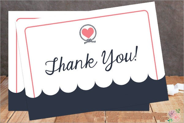 Printable Blank Thank You Card