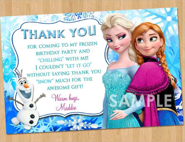 Frozen Printable Thank You Card