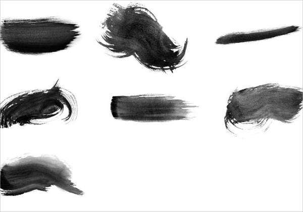 watercolor stroke brushes