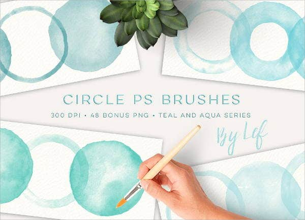 watercolor circle photoshop brushes