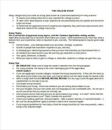 microsoft word college essay template