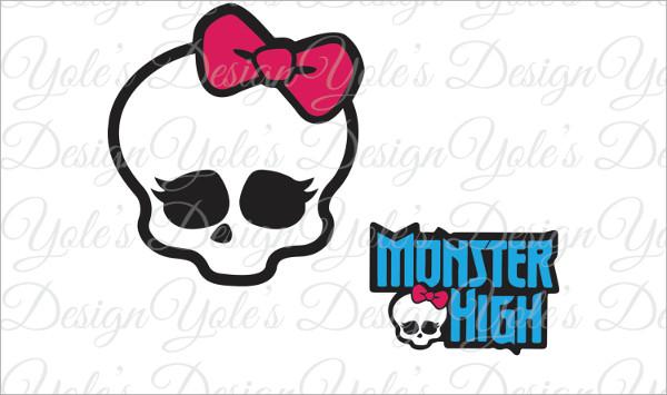 monster skull logo