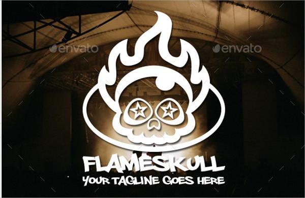 Flame Skull Logo