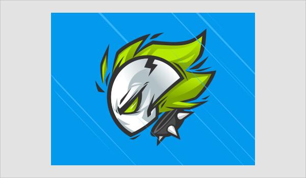 cartoon skull logo