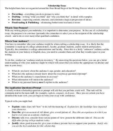 scholarship essays example 7 free word pdf documents download. Resume Example. Resume CV Cover Letter