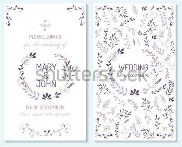 rustic wedding card template1