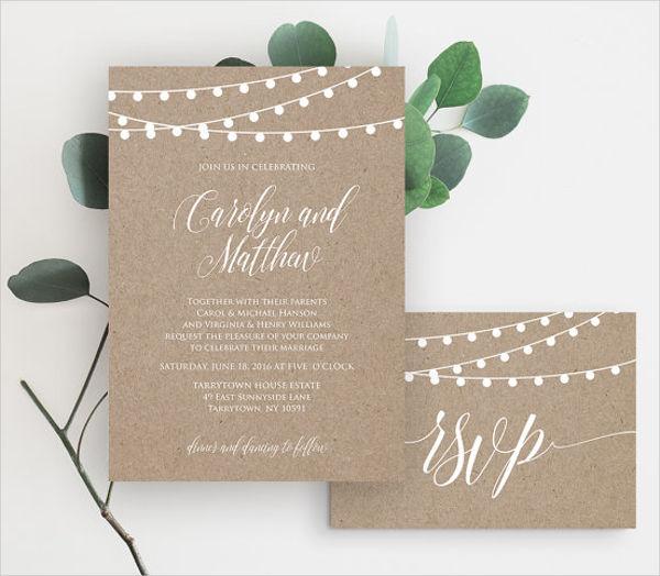 rustic invitation card template1