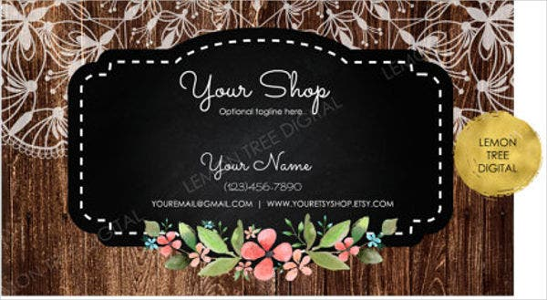 rustic business card template1