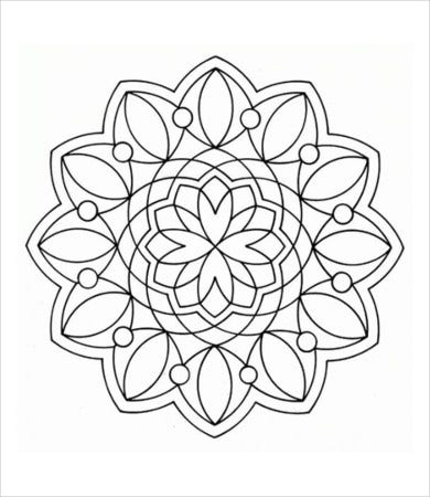 simple geometric coloring page