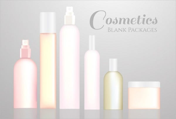 Free Blank Cosmetic Packaging