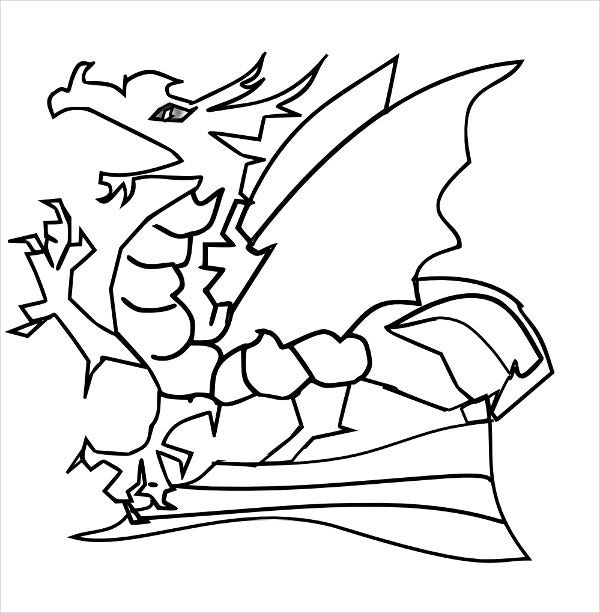 Free Printable Dragon Coloring Page