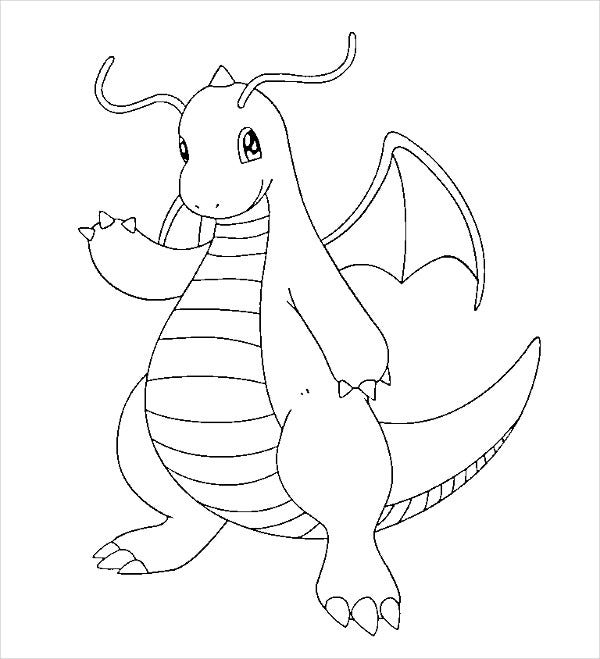 Dragon Pokemon Coloring Page